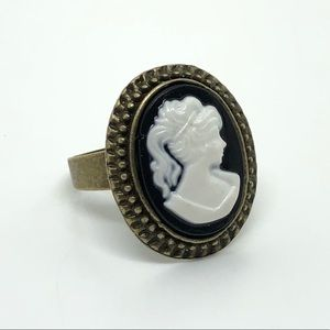 Jewelry - Antique Brass Cameo Fashion Ring